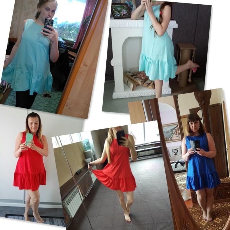Naiveroo Women Summer Mini Dress Ruffle Casual Cocktail Party ... 3ca0d2bb2b08