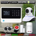 2.4G WiFi GSM Alarm System , Compatible GPRS IOS Android APP Control, Touch Keyboard, Support 5 language Switch, Camera Alarm