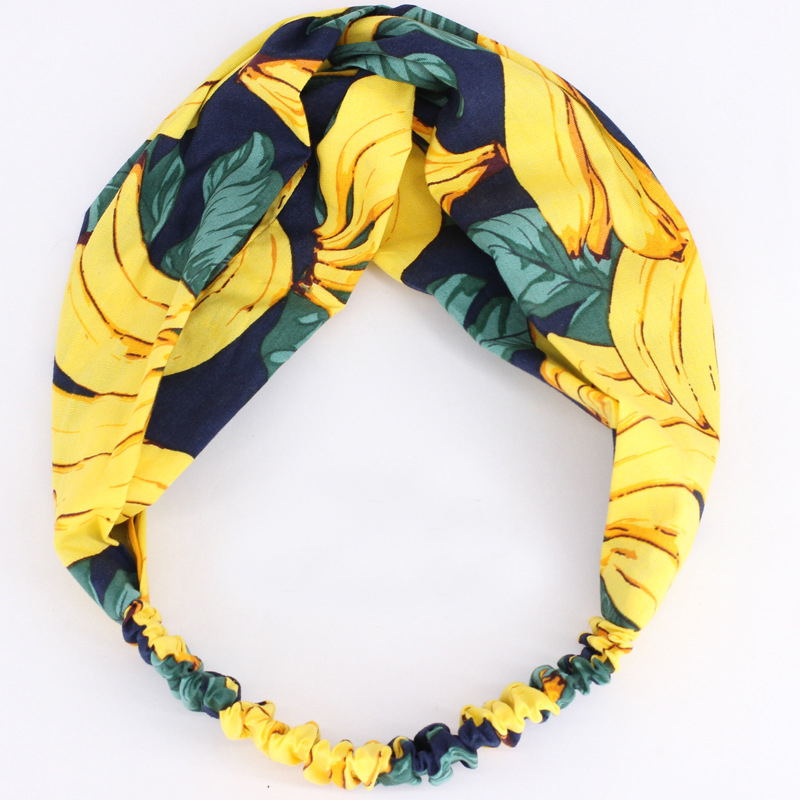 1Pc New Fashion Fabric Hairbands for Women Cotton Elastic Sport Headband Hair Accessories   Headwear   Girls Headdress Headpiece