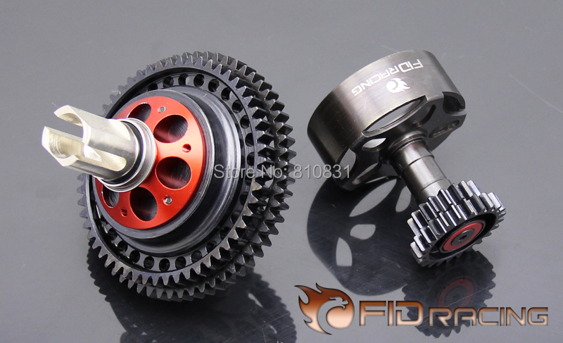 Freeshipping FID Two-speed transmission for Losi 5ive-T MINI losi 5ive t hd billet rear hub carriers