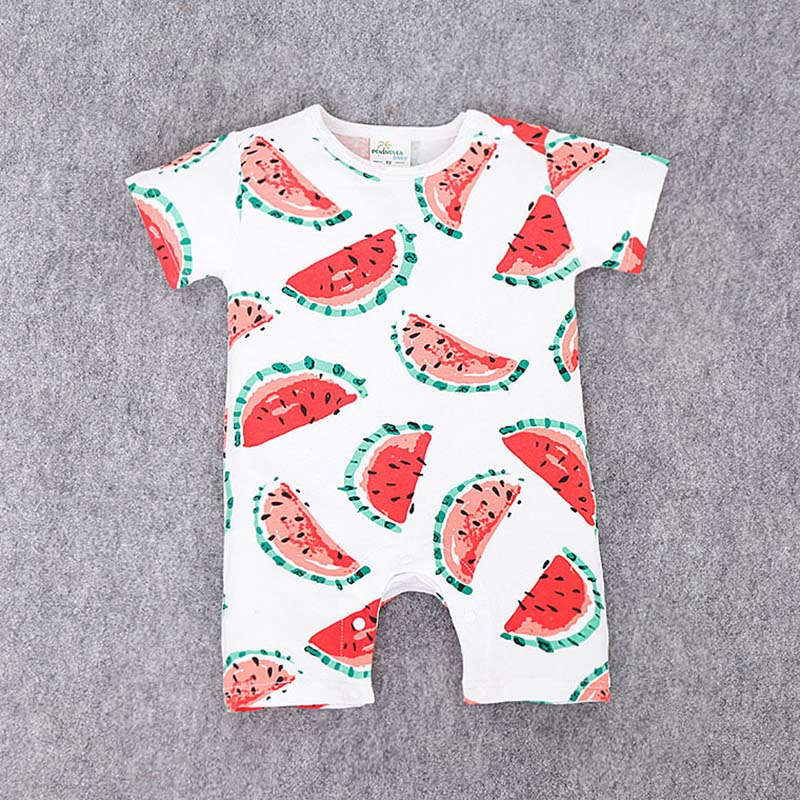 d33bdf23ef5 Detail Feedback Questions about Baby boy girl Summer clothes Lovely  Pineapple Watermelon fruit Newborn baby Short sleeve Romper Jumpsuits on  Aliexpress.com ...
