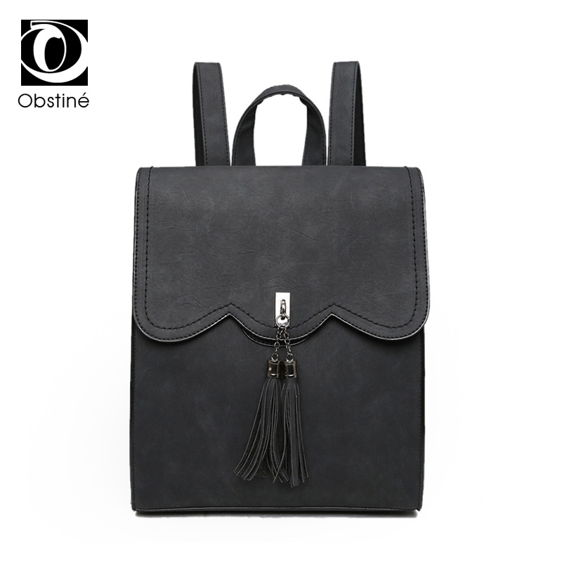 6b9f32d919e4 Detail Feedback Questions about Casual Women Backpack Tassels Rucksack  Solid Women Shoulder Bag Satchel Faux Suede Leather Mochilas School Bag on  ...