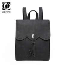 Повседневное Для женщин рюкзак Ленточки рюкзак одноцветное Для женщин сумка портфель из искусственной замши Mochilas школьная сумка