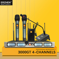 Wireless microphone, 3000GT4 professional, optional frequency UHF KTV special session, turn head to wear microphone system