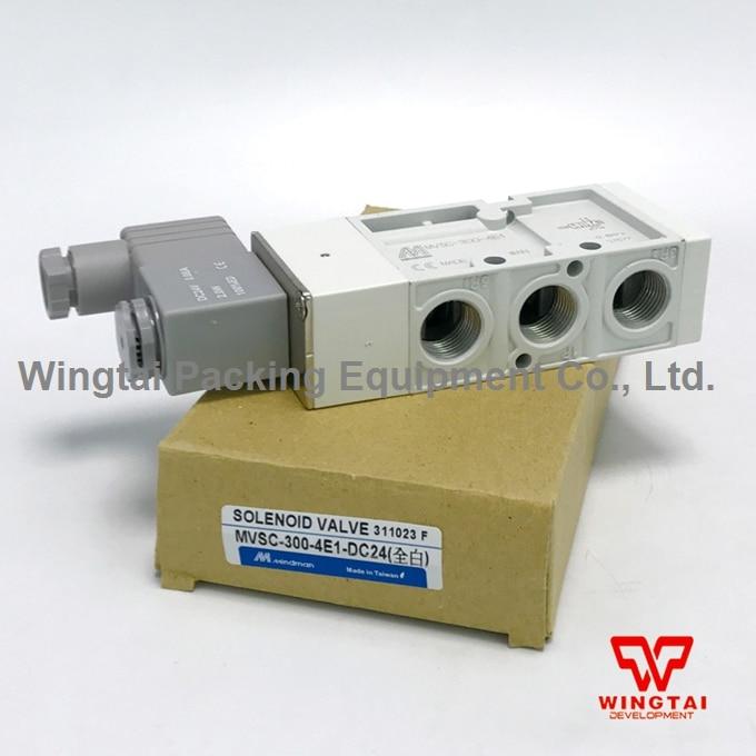 Mindman MVSC-300-4E1 3/8'' Air Pneumatic Solenoid Valve 5 Ported 4 Way DC24V new mindman solenoid valve mvsd 180 4e1 mvsd1804e1 coil ac220v