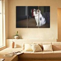 Kedi Bebek Çerçevesiz Resimleri Modern Ev Dekorasyon Posteri Duvar Sanatı Yatak Odası için Sıcak 3 Panels Duvar Modüler Tuval Boyama