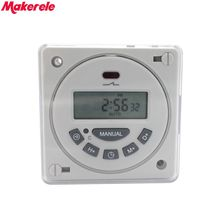 L701 with Shell 16A Digital Time Switch Weekly Programmable Electronic Timer AC 220V 110V AC/DC 24V 12V Makerele