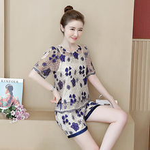 Plus Size Large M-4XL 5XL Lace Co-ord Set Clothing Women Two Piece Outfits Short Pant Top Embroidery Off Shoulder 2019 Summer
