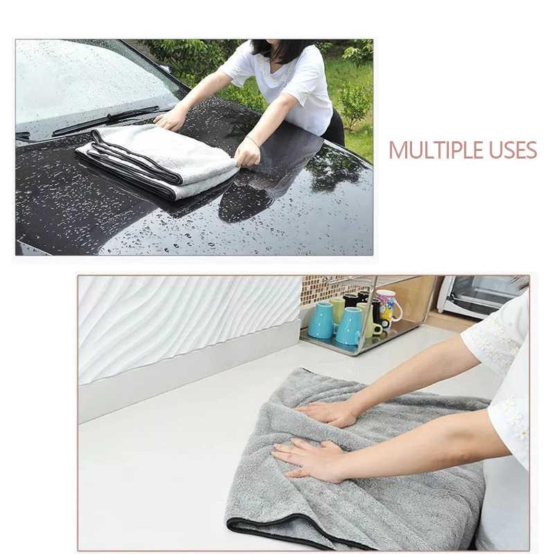 マイクロファイバータオル洗車布自動クリーニングドア窓ケア厚い強力な水吸収用自動車アクセサリー