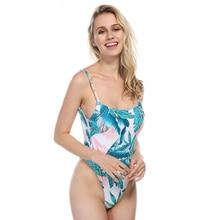 Sexy Lace Up Swimwear Women One Piece Swimsuit 2018 1 Thong Bathing Suit Beach Wear Bandage Monokini Swimming Suit For Women