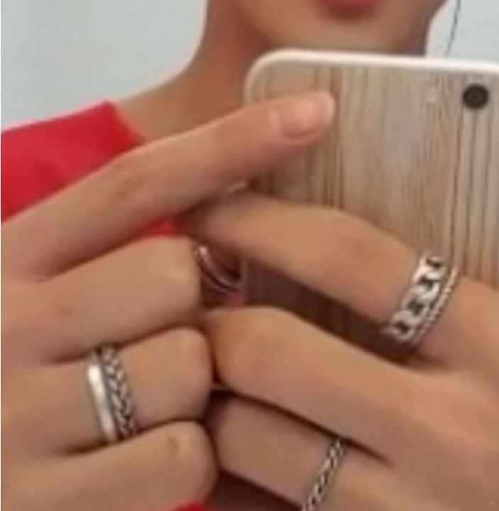 2020 nuovo 5 pz/set Kpop Gioielli V DNA Anelli Corea POP Ventole Knuckle Anello Coreano Famoso Star Freddo Ragazzi argento placcato Anelli