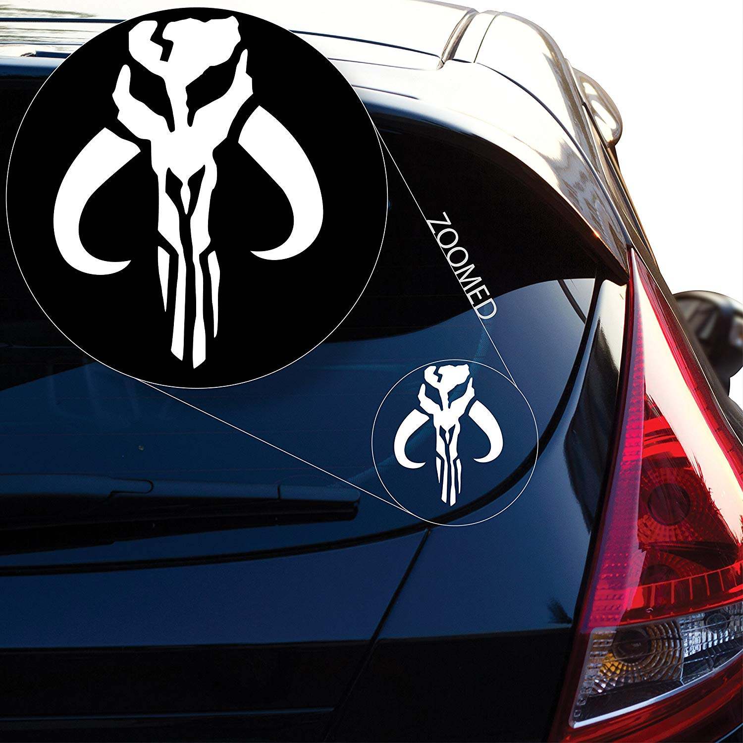 Yoonek Graphics Jaing Head Boba Fett Bounty Hunter inspired Star Wars Decal Sticker for Car Window Laptop and More in Car Stickers from Automobiles Motorcycles