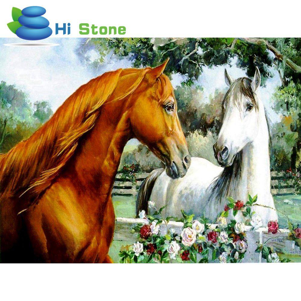 DIY Полный Круглый Вышивка с кристаллами Наборы лошадник Soulmate 5D Алмазная мозаика свадебный подарок бриллиантами Вышивка 70674