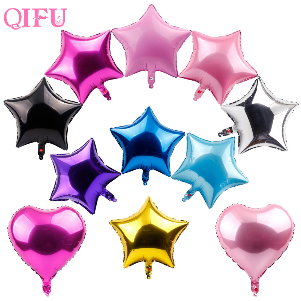 Qifu 5 шт. 45x45 см пятиконечная звезда образный Фольга шары розовый Baby Shower гелий металлических баллонов одежда для свадьбы, дня рождения Декор