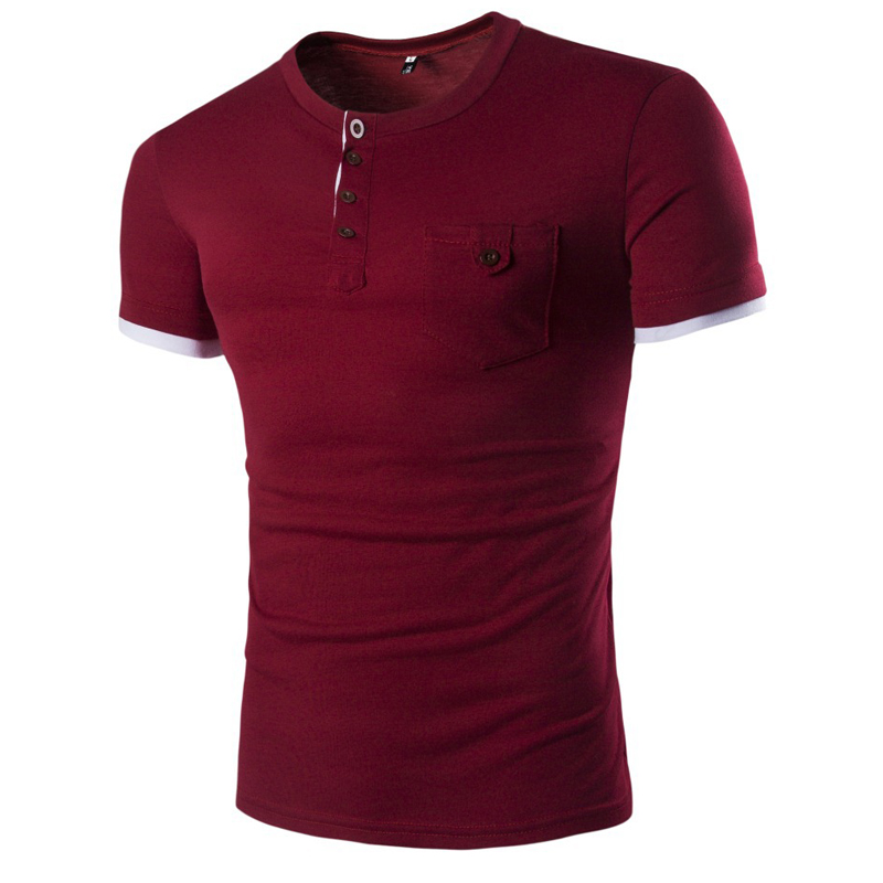 Online buy wholesale pocket henley shirts from china for Bulk pocket t shirts