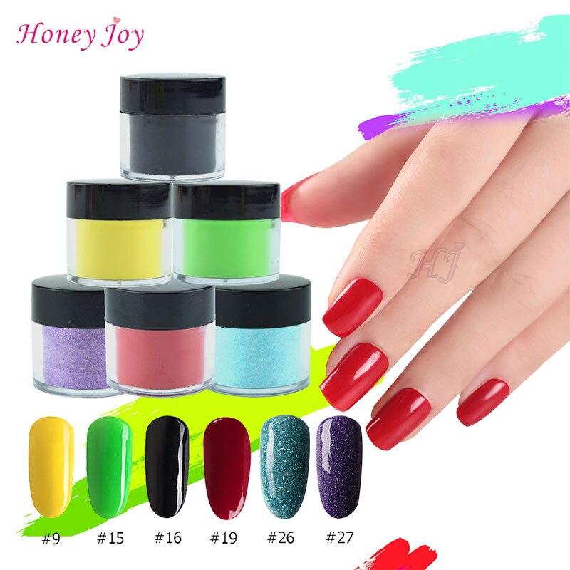 Home Fein 18 Farben Holographische Tauch Pulver Gradienten Dip Nail Art Glitter Pigment Dekoration Uv Gel Natürliche Trockene Ohne Lampe Heilung