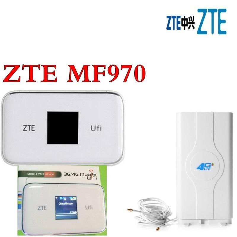 Разблокированная zte MF970 с 4g антенна lte Карманный 300 Мбит/с ключ мобильный Точка доступа 4g