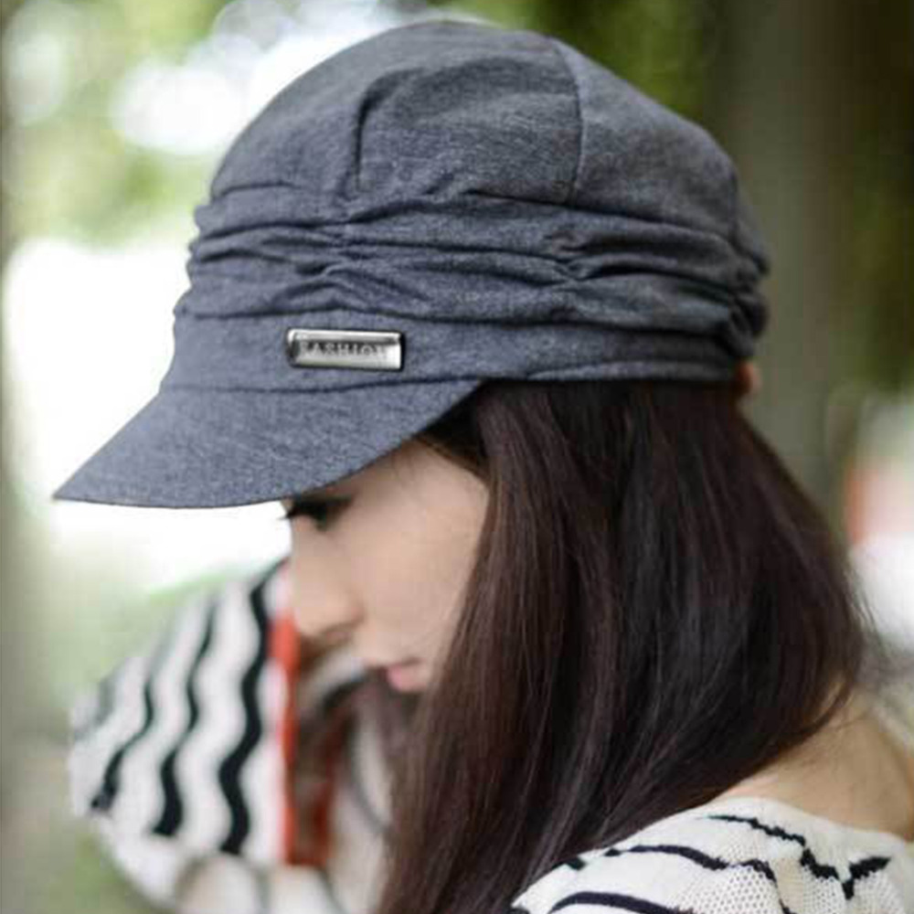 NEW Version Spring and Winter Gorro Cap Lady's Fashion Drape Delicate Women Hats 3 Solid Color High Quality cap Free Shipping