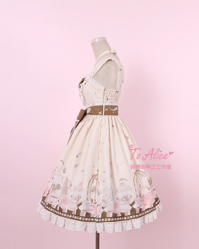 Aliexpress.com   Buy Anthony s Tea Party Cute Women s Lolita JSK Dress  Summer Sleeveless Dress Cute Bubble Bows One Piece Pink Blue Beige from  Reliable ... 7a9c5ae2100e