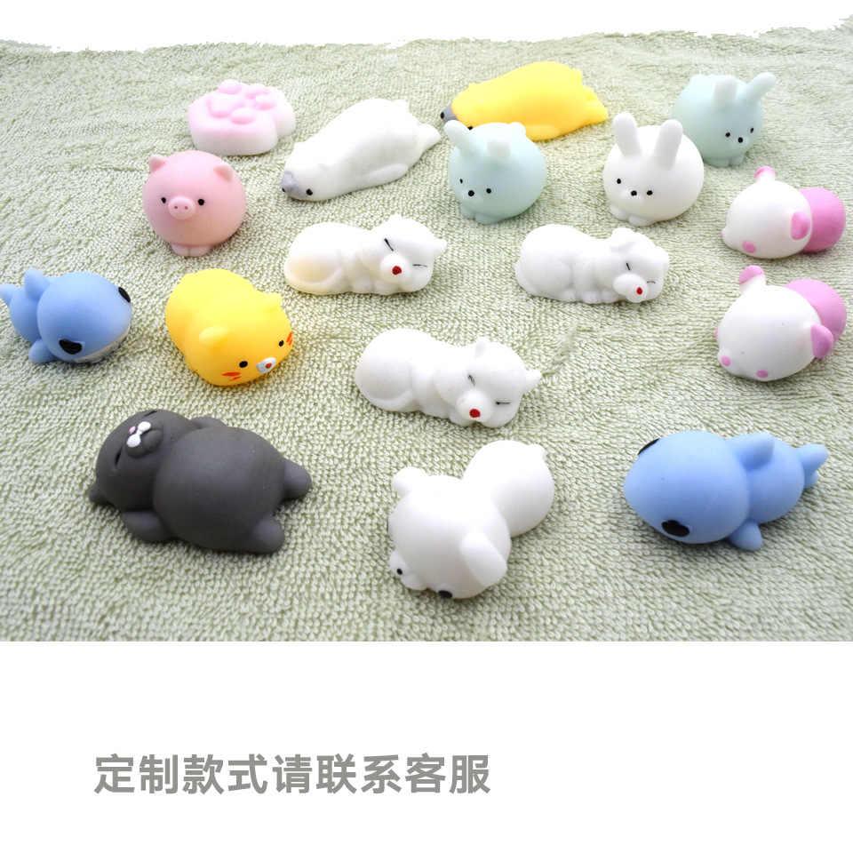 Kawaii Squishies антистрессовые забавные мини-игрушки, мягкие силиконовые игрушки для рук, мягкие животные, Kawaii куклы, резиновые игрушки для детей, подарки