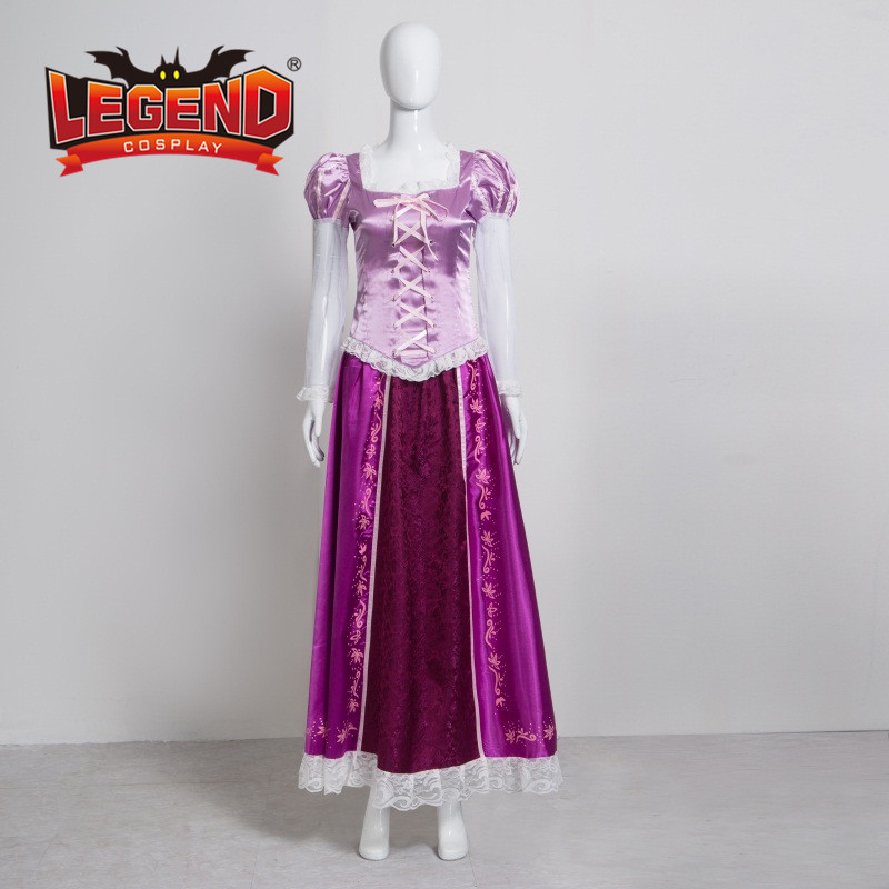 purple princess rapunzel dress cosplay adult costume custom made