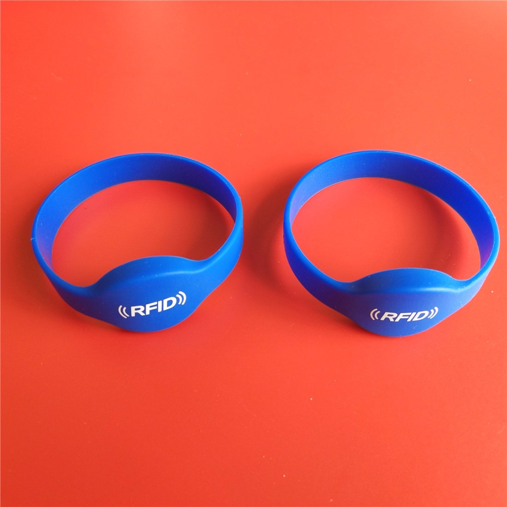 50Pcs Lot 13 56MHZ MF 1K S50 NFC Tags Access Control Silicone NFC Wristband Bracelet Printed