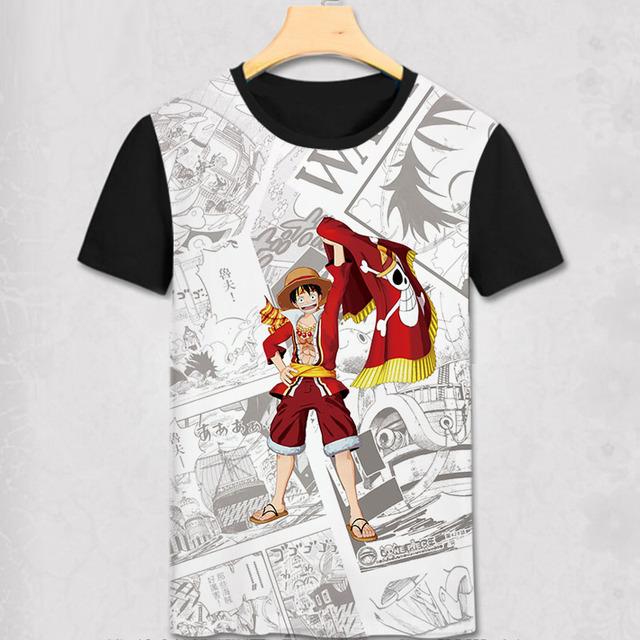 One Piece Anime Print Casual Fashion Men's Summer T-shirt