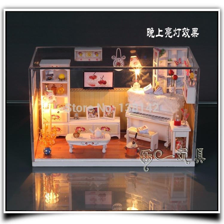 Shipping Furniture Model G002 Hongda Diy Cozy Room Doll House Furniture Model Miniature .