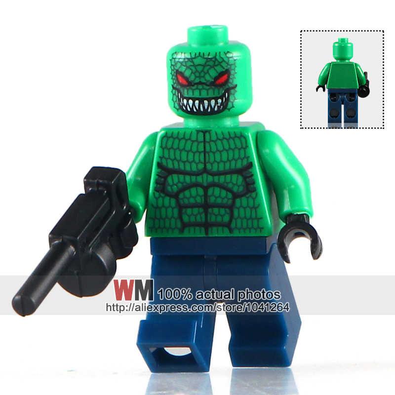 WM Única Venda KL051 Killer Croc com Tommy Gun Arma DC Super Heroes Batman Filme 7780 Bricks DIY Brinquedos para Crianças KL9008