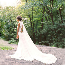 2016 Wedding Dress Vestido De Noiva Casamento Robe Mariage Princesa Com Renda Trouwjurk Chiffon Simple Lace Bohemian High