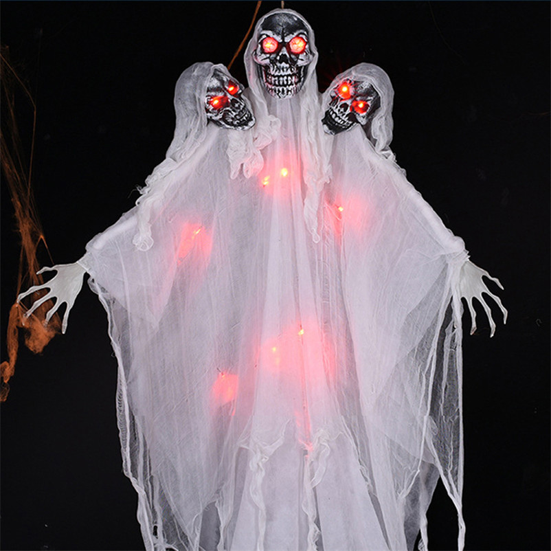 Three Head Skeleton Ghost Halloween Decoration 2M Big Horror Skull Ghoul Party Scary Props Haunted Doll Electricidad Casa GhostThree Head Skeleton Ghost Halloween Decoration 2M Big Horror Skull Ghoul Party Scary Props Haunted Doll Electricidad Casa Ghost