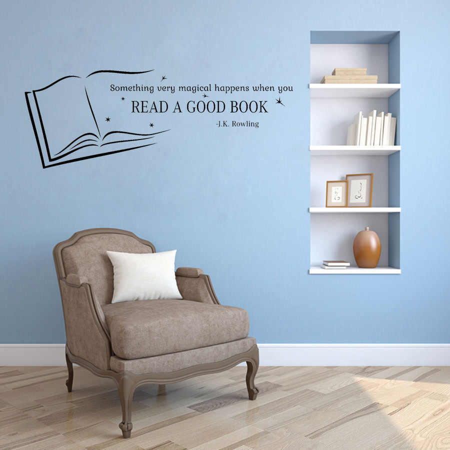 Read A Good Book Wall Quotes Decal Kids Rooms Vinyl Sticker Home School library Classroom Interior Decor Wallpaper G172 interior design