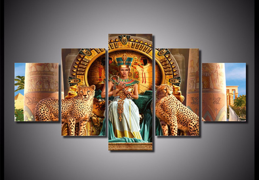 5pcs.Full,Diamond Embroidery,5D,Diamond Painting Queen of Egypt,picture,image,Stitch Cross,Diamond Mosaic,canvas,Needlework,gift