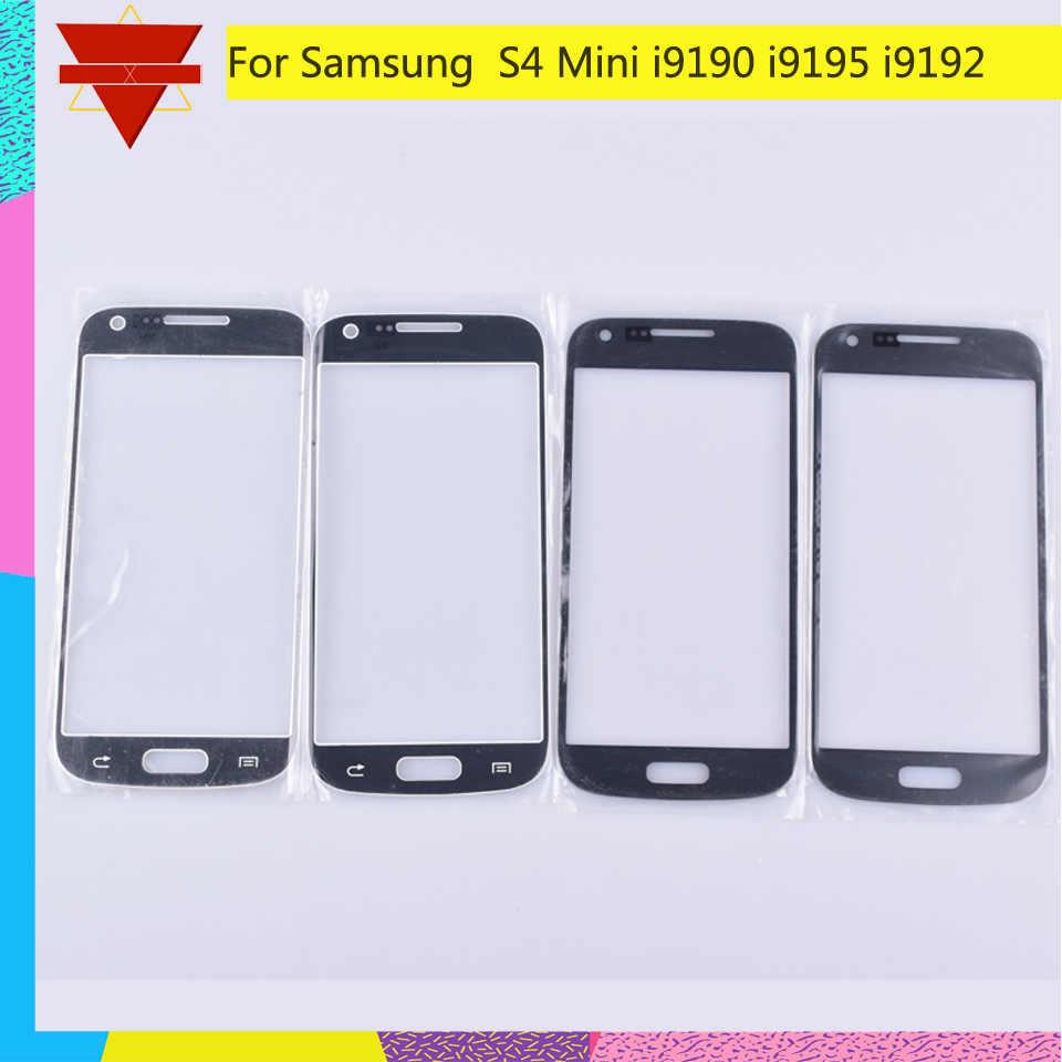 Dành cho Samsung Galaxy Samsung Galaxy S4 Mini i9190 i9195 i9192 GT-i9192 Cảm Ứng Màn Hình Mặt Trước Kính Bảng Điều Khiển Màn Hình Cảm Ứng Kính Bên Ngoài Ống Kính KHÔNG CÓ MÀN HÌNH LCD