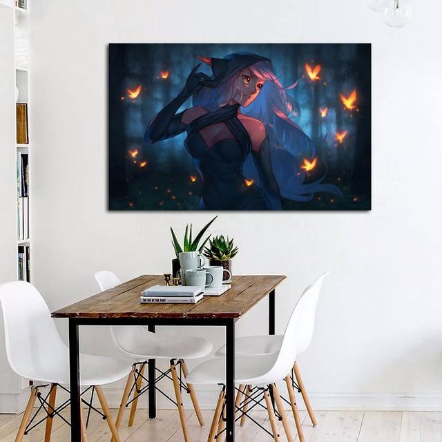 Forest Elf Fantasy Spirit Girl In Night Living Room Decoration Home