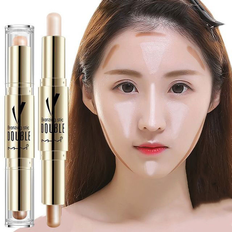 Golden Double Headed High Gloss Shadow Repairing Rod Fine Texture Of The Face Brightening Concealer Maquillage Facial