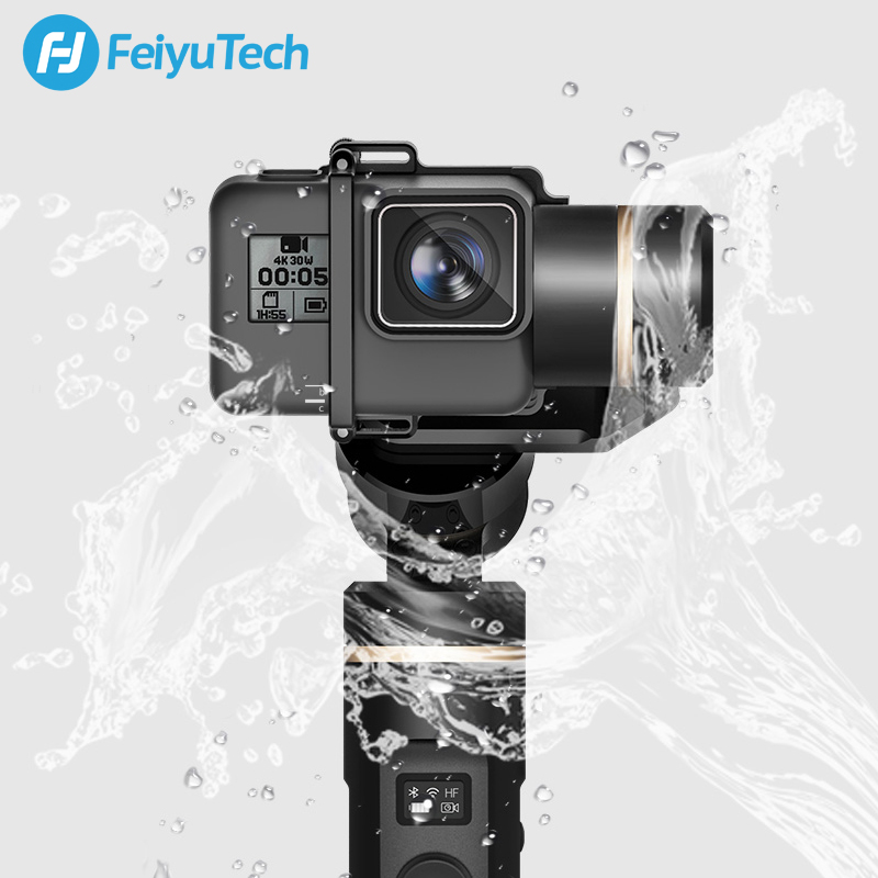 FeiyuTech G6 Splash Proof 3 Axis Handheld Gimbal Action Camera Stabilizer Bluetooth & Wifi for Gopro Hero 7 6 5 Sony RX0 Feiyu-in Handheld Gimbals from Consumer Electronics