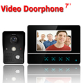 Free shipping 7'' wired color video door phone Intercom system video doorbell kit IR 1 outdoor camera +1 monitor 811MKB11