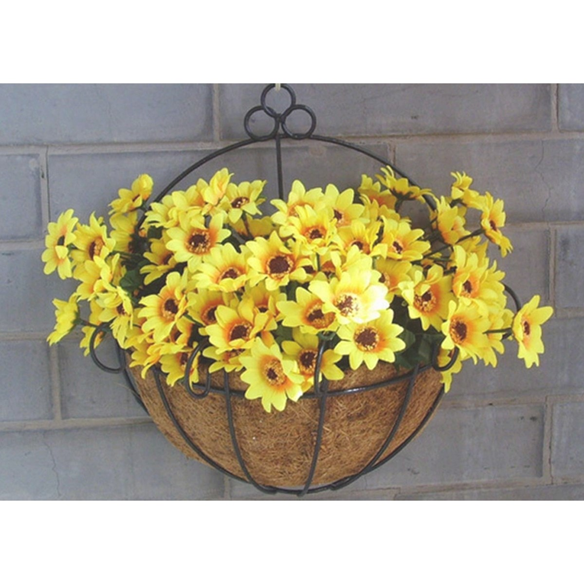 Garden Wall Hanging Flower Pot Basket Semicircular Windows IronCoir ...