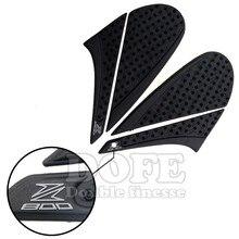 Para kawasaki z80012-15 2012 2013 2014 2015 Pegatinas Moto Tanque Negro Almohadilla de Tracción Lateral Gas Grip Protector de La Rodilla 3 M