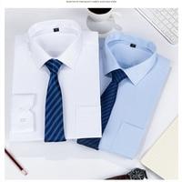 2019 Men Shirt Plus Size Pocket Long Sleeved Classical Male Shirts Formal Business Shirt Man