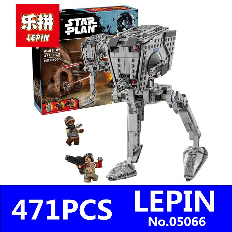 Genuine Star Series War LEPIN 05066 471Pcs The Rogue One Imperial AT-ST Walker Set Building Blocks Bricks Educational Toys 75153 herbert george wells the war of the worlds