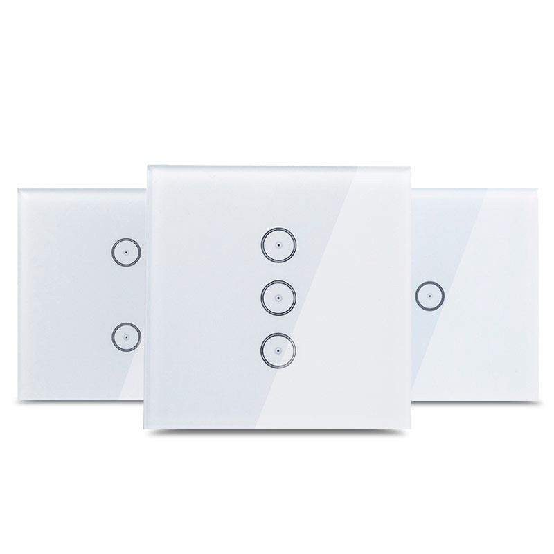 Work With Amazon Alexa Google Home  Smart Wi-Fi  Glass Panel 110~240V  EU   Touch Light Wall Switch Tuya App For Smart Home