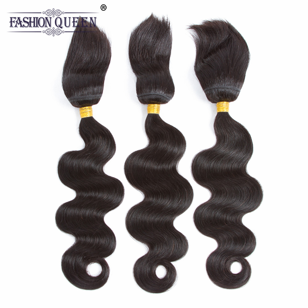 Fashion Queen Hair Braid in Bundles 7A Brazilian Body Wave Human Hair 3 Bundles 120g/Pc Braid in Human Hair Extensions ...