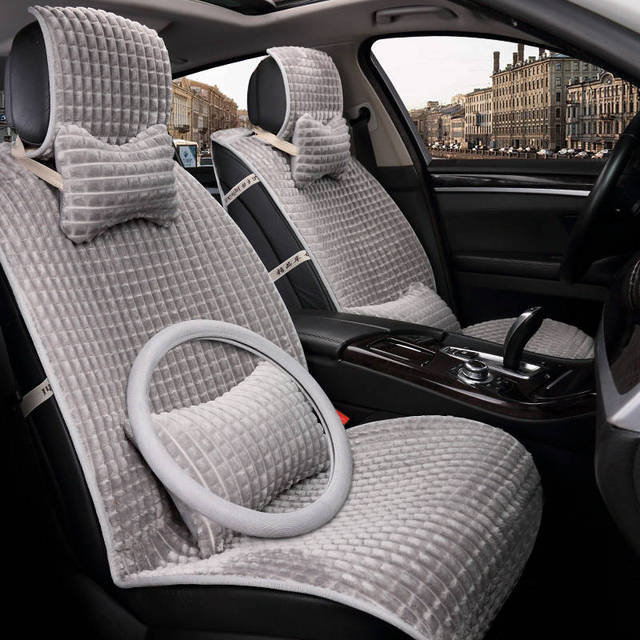 Winter Car Seat Cover Cushion Plush AccessoriesCar Styling Covers Warm