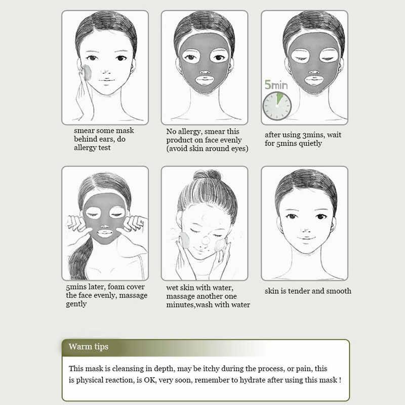 BIOAQUA pielęgnacja skóry odżywianie naprawa maseczki do twarzy gazowana glinka bąbelkowa głębokie oczyszczanie usuń zaskórników nawilżający krem do twarzy