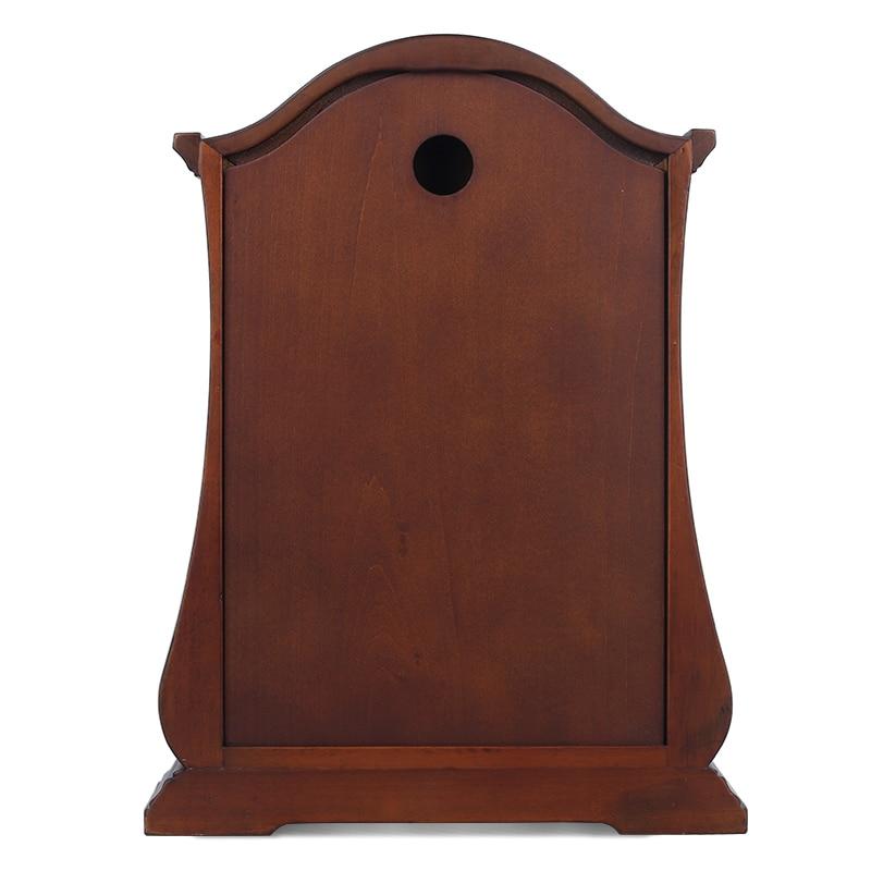 Merek baru High - end jam meja kayu, Gerakan kuarsa diam, Jam meja, - Dekorasi rumah - Foto 2