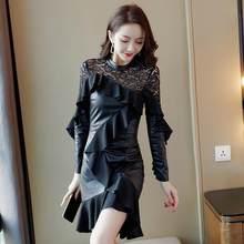 444673cb6f4 Демисезонный офисный женский Вечеринка платье Для женщин с длинными  рукавами