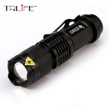 Surprise! high-quality cree 2000 Lumens lanterna waterproof LED Flashlight tactical torch penlight free shipping