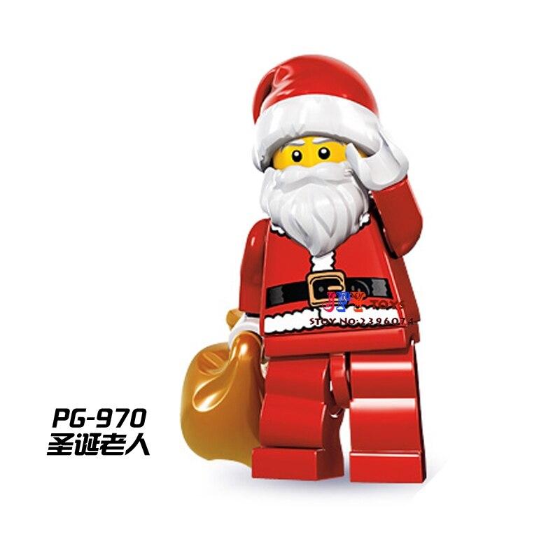50pcs starwars superhero Santa Claus Christmas building blocks bricks friends for girl boy kids children toys brinquedos menina